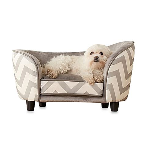 chevron dog bed buy enchanted home pet chevron snug small dog bed in grey