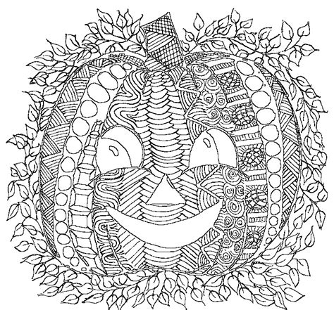 detailed pumpkin coloring page coloriage adulte halloween citrouille 3