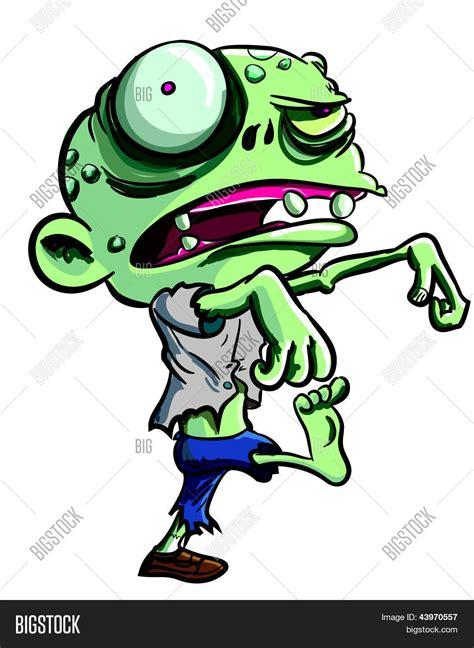 imagenes zombies animados cartoon illustration green zombie vector photo bigstock