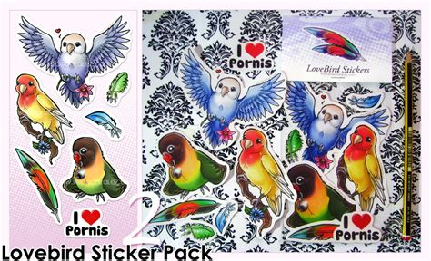 029 5 Wallpaper Sticker lovebird stickers pack 2 by bea gonzalez on deviantart