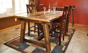 white rustic farmhouse table with distressed finish