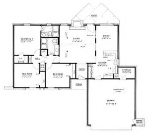 1200 Sq Ft by Ranch Style House Plan 3 Beds 2 Baths 1200 Sq Ft Plan