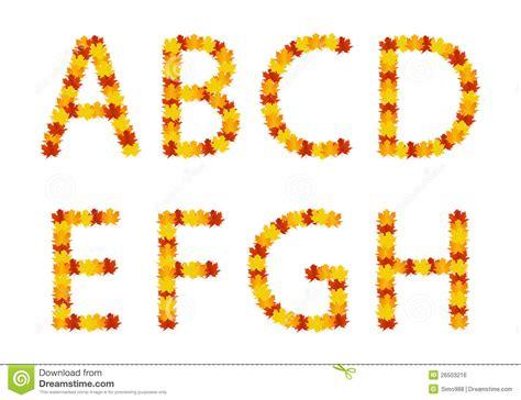 lettere d dei lettere di alfabeto dei fogli di autunno immagine stock