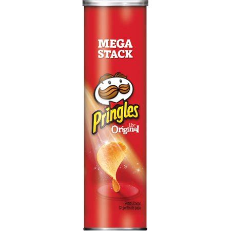 pringles potato crisps chips mega stack, original, 6.8 oz