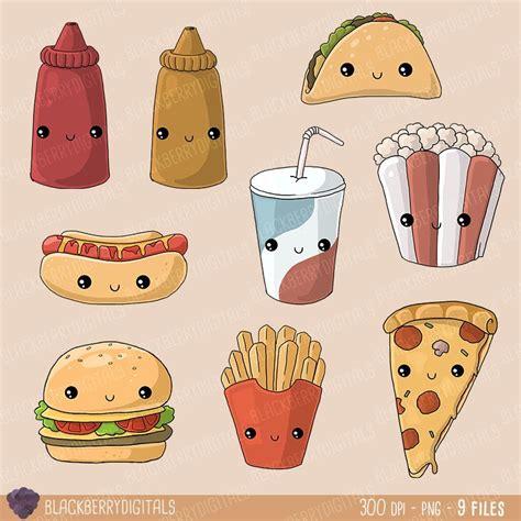 imagenes kawaii de comida para dibujar kawaii clipart de comida basura comida chatarra im 225 genes