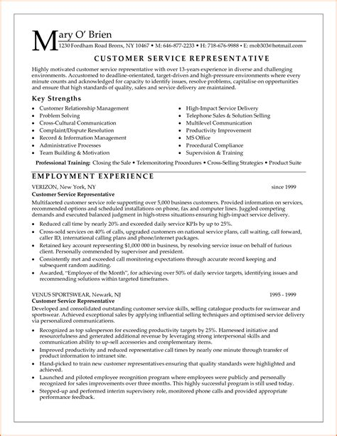 Exles Of Customer Service Resumes by Patient Service Representative Resume Template Resume
