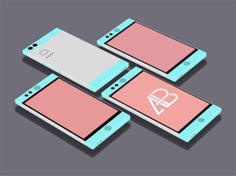 flat mobile flat mobile phones mock up psd file free