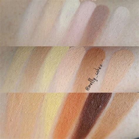 Pallete Mac Jumbo swatches of the nyx cosmetics 3c conceal correct contour
