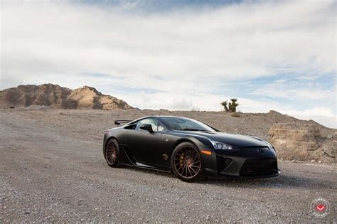 bronze lexus satin black lexus lfa matches up with satin bronze wheels