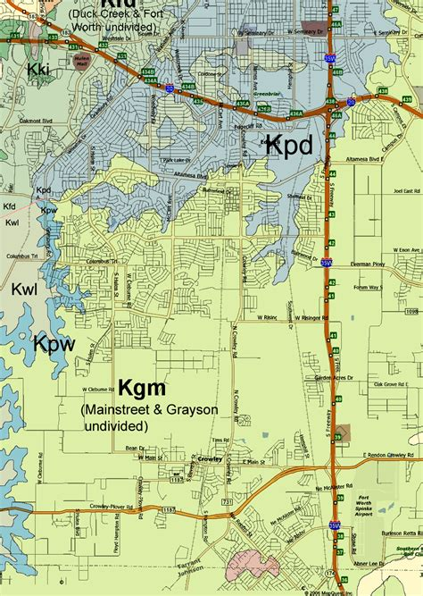 tarrant county texas map geology of tarrant county texas