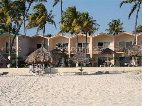 View of Lanai rooms from beach   Picture of Divi Aruba