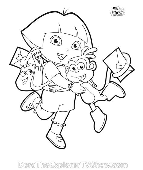 simple dora coloring pages dora coloring pages dora coloring pages backpack diego