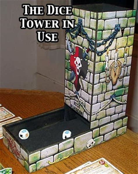 printable dice tower rpgnet review of dice dungeon deluxe dice tower