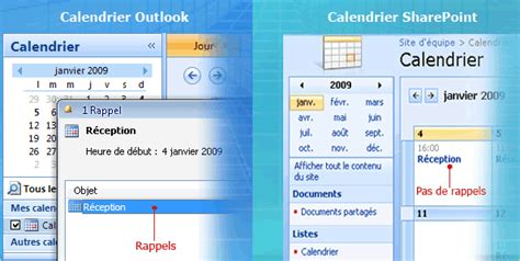 2 Calendriers Dans Outlook Calendriers Sharepoint Ii Connecter Un Calendrier