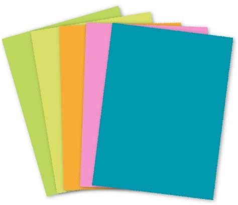 Card Paper - mohawk britehue 8 5 x 11 card stock paper assorted