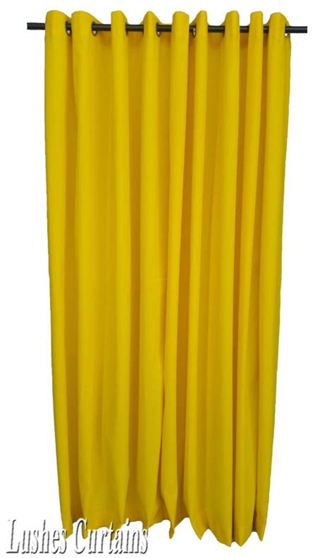 yellow grommet curtains yellow 84 quot h velvet curtain panel w grommet eyelets top