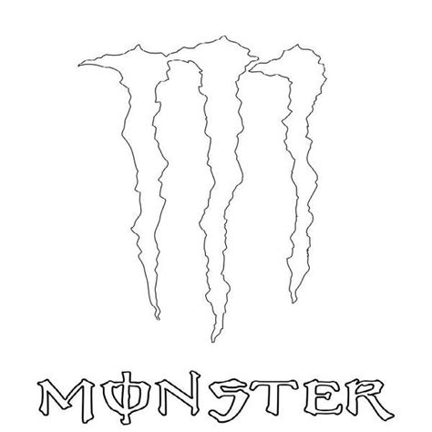 Gratis Aufkleber Monster Energy by Dibujo De Monster Energy Para Pintar Clipart Best