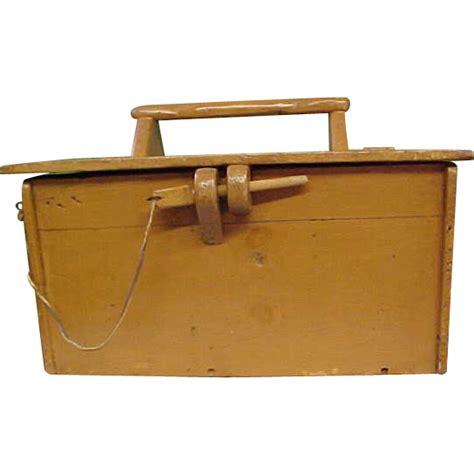 Handmade Tool Box - wonderful handmade painted wooden tool box from