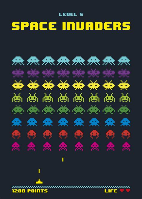 The Space Invaders space invaders pacman domestika