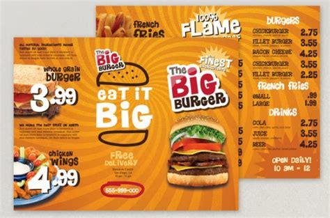 desain brosur food 13 contoh desain brosur makanan menarik simple elegan