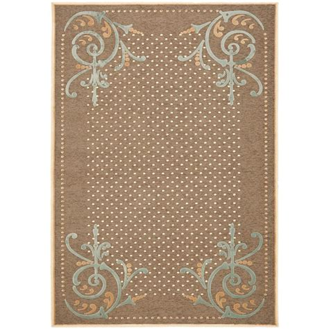 martha stewart rugs home depot martha stewart living scrollwork brown 5 ft 3 in x 7 ft 6 in area rug msr4446b 5 the home
