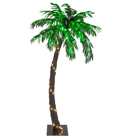 lighted palm trees 5 led curved lighted palm tree