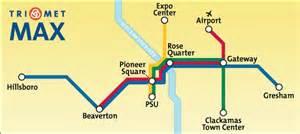 portland oregon light rail map simple rail system map portland