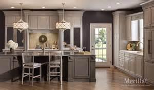 merillat kitchen cabinets merillat masterpiece 174 temora in cherry vintage pebble grey