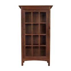 Vermont made wooden shaker bookcase with glass doors real wood