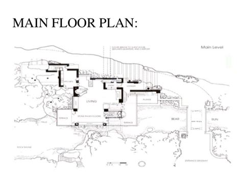falling water floor plan casestudy of falling water