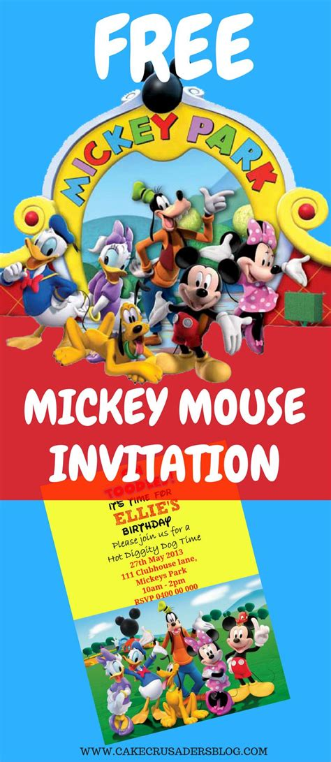 mickey mouse birthday party invitations templates alanarasbach com
