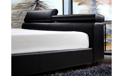exquisite leather modern master beds with storage cases exquisite leather platform and headboard bed with extra