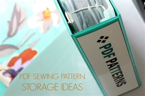 pattern of organizing ideas storage ideas for printable pdf sewing patterns