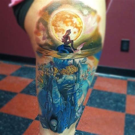 realistic mermaid tattoo wonderful realistic mermaid on thigh tattooimages biz