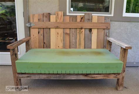 pallet wood patio chair build part  funky junk
