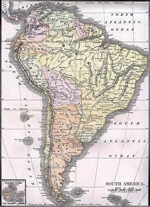 large detailed political map of south america 1892