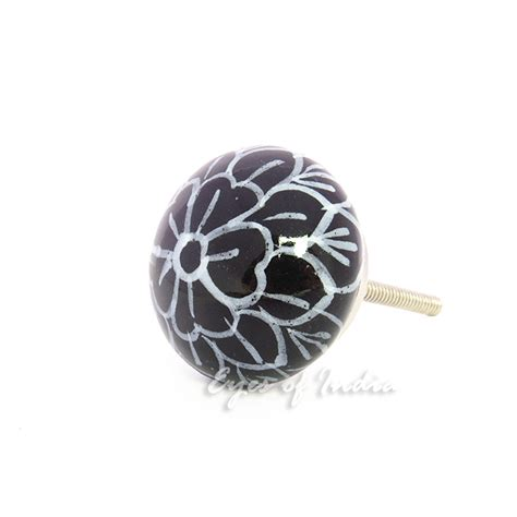 decorative cabinet door knobs black white decorative ceramic dresser door cupboard