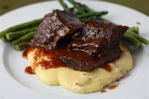 braised beef short ribs recipe dishmaps