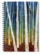 Song And Forest Spiral Notebook morning song 3 painting by hailey e herrera