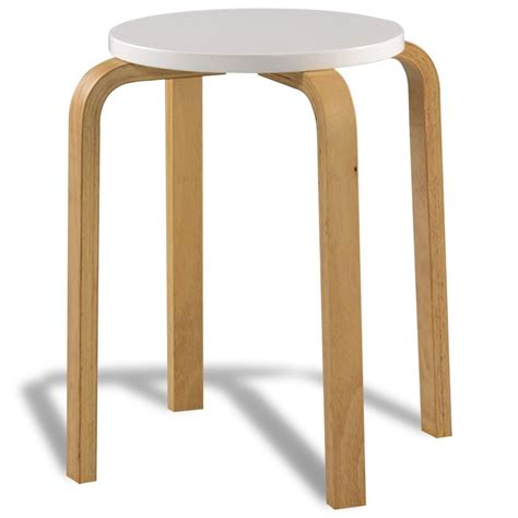 Stackable Bar Stools Sale by Vidaxl Co Uk 4 White Stackable Solid Bentwood Stools