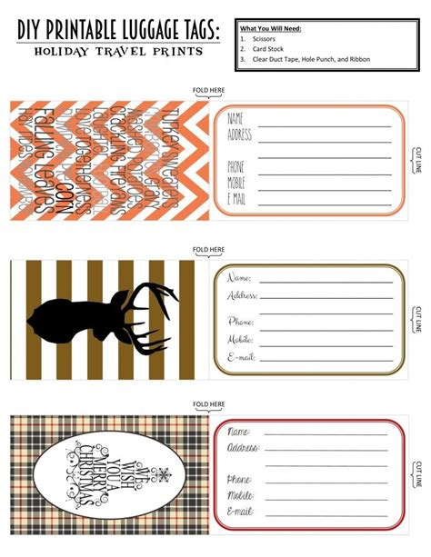 luggage label template free printable luggage tags travel edition l de papier printable luggage