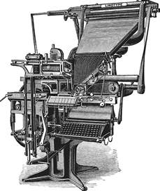 when was the linotype machine invented history of the book features fall 2014 williams magazine