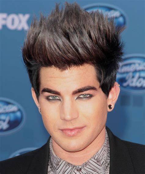popular male hairstyles adam lambert short straight adam lambert short straight alternative hairstyle black