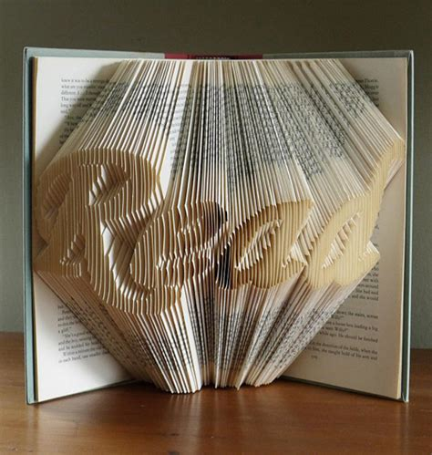 Folded Paper Sculpture - amazingly creative sculptures on folded book paper