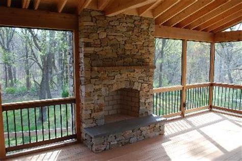 Chadds Ford Fireplace by Screen Porch With Outdoor Fireplace Screened Porch With