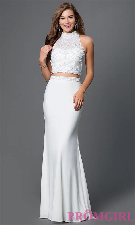 Informal White Wedding Dresses by Two High Neck White Formal Dress Promgirl
