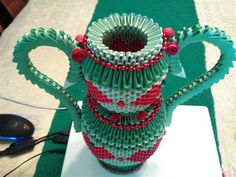 How To Make A 3d Origami Vase - vase 3d origami by esmeraldaarribas on deviantart