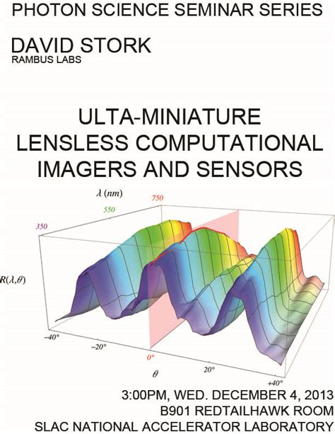 pattern classification stanford ultra miniature lensless computational imagers and sensors