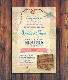 travel themed wedding invitations travel wedding shower invitation by conteurco on etsy