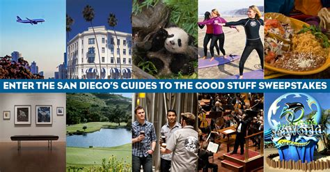 San Diego Sweepstakes - enter to win the san diego guides to the good stuff sweepstakes